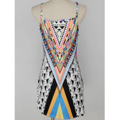 Trendy Geometric Print Women's Cami Dress