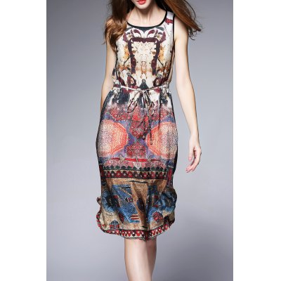 Silk Tribal Printed Dress