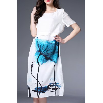 Wash Painting Midi Dress