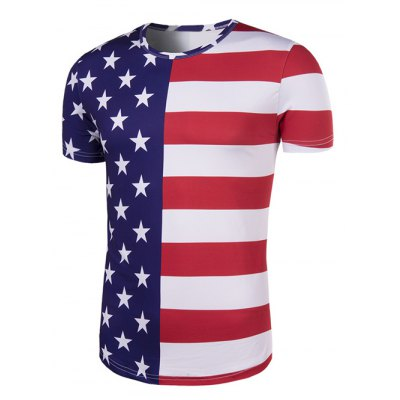 Round Neck The Stars and The Stripes Print Short Sleeve T-Shirt For MenMens Short Sleeve Tees<br>Round Neck The Stars and The Stripes Print Short Sleeve T-Shirt For Men<br><br>Style: Fashion<br>Material: Cotton,Polyester<br>Sleeve Length: Short<br>Collar: Round Neck<br>Weight: 0.210kg<br>Package Contents: 1 x T-Shirt<br>Embellishment: 3D Print<br>Pattern Type: Star