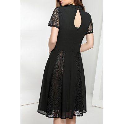 Cut Out Pleated Dress