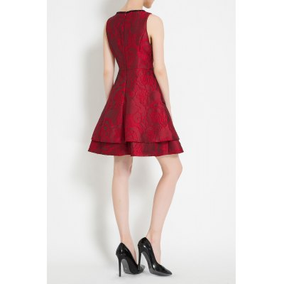 A Line Jacquard Mini DressDesigner Dresses<br>A Line Jacquard Mini Dress<br><br>Style: A Line<br>Occasion: Cocktail &amp; Party<br>Material: Acetate,Cotton,Polyester<br>Composition: Outer Composition:35% Cotton,65% Polyester&lt;br&gt;Lining Composition:100% Acetate<br>Dresses Length: Mini<br>Neckline: Round Collar<br>Sleeve Length: Sleeveless<br>Pattern Type: Others<br>With Belt: No<br>Season: Summer<br>Weight: 0.420kg<br>Package Contents: 1 x Dress