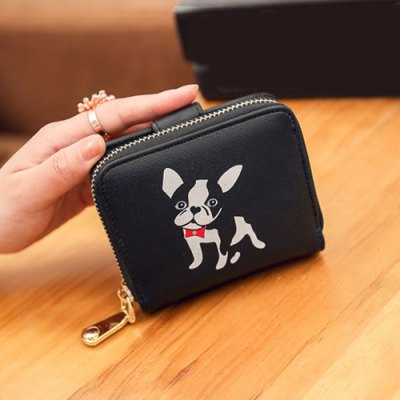 Pup Print Zip Around Short WalletCoin Purse &amp; Card Holder<br>Pup Print Zip Around Short Wallet<br><br>Gender: For Women<br>Style: Casual<br>Closure Type: Zipper<br>Pattern Type: Print<br>Main Material: PU<br>Length: 12CM<br>Width: 4CM<br>Height: 10CM<br>Weight: 0.146kg<br>Package Contents: 1 x Coin Purse