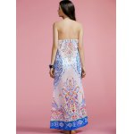 best Fashion Halter Print Cut Out Maxi Dress For Women