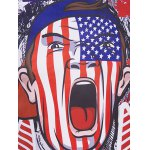 Round Neck The Stars and The Stripes Cartoon Print Short Sleeve T-Shirt For Men for sale