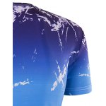 Slim Fit Round Collar Ice Cube Printing T-Shirt For Men for sale