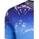 Slim Fit Round Collar Ice Cube Printing T-Shirt For Men deal