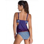 cheap Stylish Spaghetti Strap Palm Tree Print Women's Tankini Set