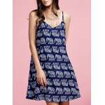 Stylish Cami Print Mini Dress For Women