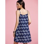 Stylish Cami Print Mini Dress For Women for sale