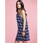 Stylish Cami Print Mini Dress For Women deal