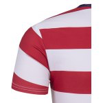 Round Neck The Stars and The Stripes Print Short Sleeve T-Shirt For Men photo