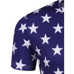 Round Neck The Stars and The Stripes Print Short Sleeve T-Shirt For Men for sale