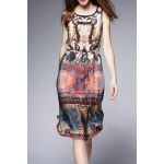 Silk Tribal Print Dress