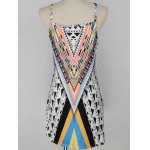cheap Trendy Geometric Print Women's Cami Dress