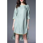 Crane Embroidered High Low Dress