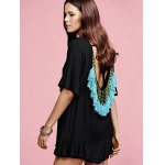 Casual Low Back Fringed Women's Dress deal
