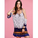 Stylish Cami Off The Shoulder Ethnic Print Women's Dress for sale