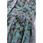 Double Pocket Leaves Print Dress photo