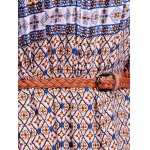 Stylish Off The Shoulder Half Sleeve Ethnic Print Women's Maxi Dress photo