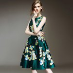 best Waisted Corset Clover Print Dress