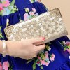 cheap Trendy Stone Print and Zip Design Clutch Wallet For Women