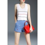 Lace Up High Low Tank Top deal
