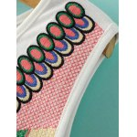 Ethnic Style Round Neck Retro Embroidery Tank Top For Women deal