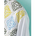 Ethnic Style Round Neck Long Sleeve Embroidery Blouse For Women deal