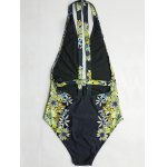 cheap Cheeky Plunging Neck Floral Print Women's One-Piece Swimsuit