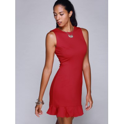 fashion-round-neck-sleeveless-red-mermaid-dress-for-women
