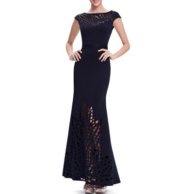 Hollow Out Maxi Mermaid Evening Dress