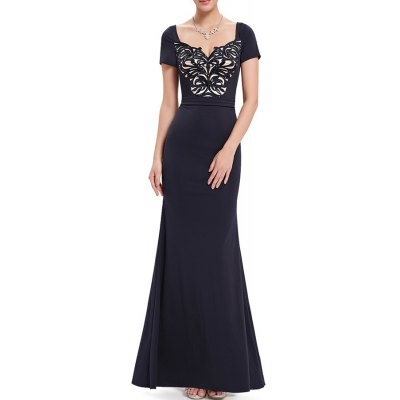 Sweetheart Neck Sequined Maxi Evening Mermaid Dress