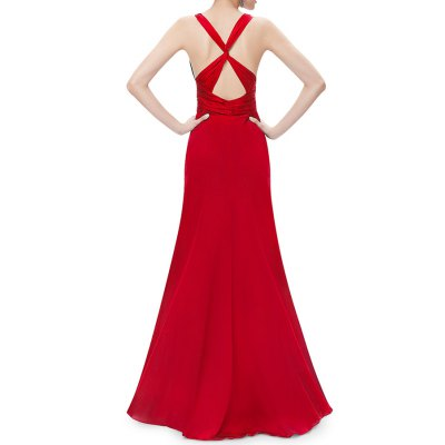 Plunging Neck A Line Maxi Evening DressDesigner Dresses<br>Plunging Neck A Line Maxi Evening Dress<br><br>Fit: Plus Size<br>Style: A Line<br>Occasion: Formal<br>Material: Polyester<br>Composition: 100% Polyester<br>Dresses Length: Floor-Length<br>Neckline: Plunging Neck<br>Sleeve Length: Sleeveless<br>Embellishment: Criss-Cross<br>Pattern Type: Solid<br>With Belt: No<br>Season: Summer<br>Weight: 0.620kg<br>Package Contents: 1 x Dress