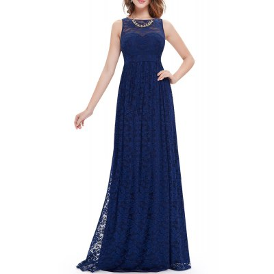 Lace High Waisted Maxi Evening Dress