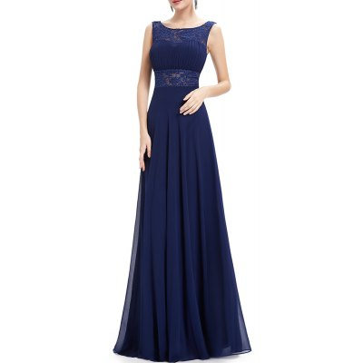 Backless Maxi Prom Pleated Dress