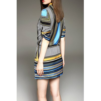 Striped Loose Mini DressDesigner Dresses<br>Striped Loose Mini Dress<br><br>Style: Casual<br>Occasion: Causal,Day<br>Material: Polyester<br>Composition: 100% Polyester<br>Silhouette: Straight<br>Dresses Length: Mini<br>Neckline: V-Neck<br>Sleeve Length: 3/4 Length Sleeves<br>Pattern Type: Striped<br>With Belt: No<br>Season: Summer<br>Weight: 0.330kg<br>Package Contents: 1 x Dress