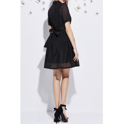 Short Sleeve Embroidered A Line DressDesigner Dresses<br>Short Sleeve Embroidered A Line Dress<br><br>Style: Novelty<br>Occasion: Causal,Day,Work<br>Material: Polyester<br>Composition: 100% Polyester<br>Neckline: Polo Collar<br>Silhouette: A-Line<br>Dresses Length: Mini<br>Sleeve Length: Short Sleeves<br>Pattern Type: Others<br>With Belt: No<br>Season: Spring,Summer<br>Weight: 0.220kg<br>Package Contents: 1 x Dress