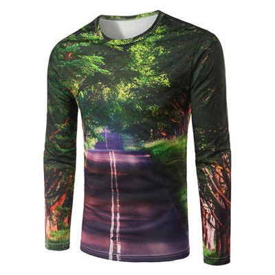 Slim Fit Round Collar Boulevard Printing T-Shirt For Men