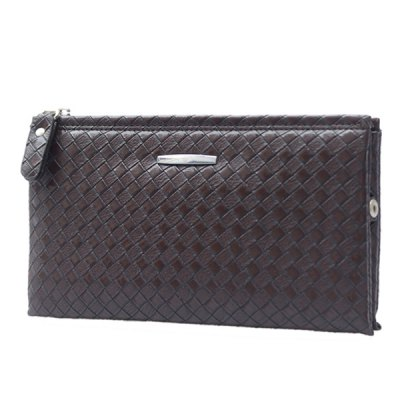 Fashion PU Leather and Zip Design Clutch Bag For Men