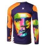 cheap Slim Fit Round Collar Che Guevara Printing T-Shirt For Men