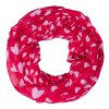 cheap Stylish White Heart Pattern Red Voile Infinity Scarf Shawl Wrap For Kids