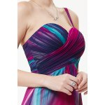 best One-Shoulder Colorful Maxi Evening Dress