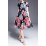 Floral Print Defined Dress deal