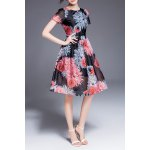Floral Print Defined Dress for sale