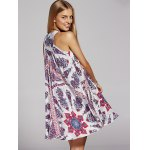 Bohemian V-Neck Lace Up Printed Dress For Women deal