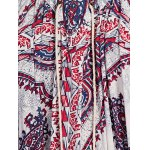 Bohemian V-Neck Lace Up Printed Dress For Women for sale