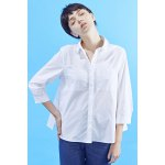 White Loose Drawstring Shirt