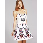 cheap Ethnic Style Waisted Embroidery Cami Dress For Women