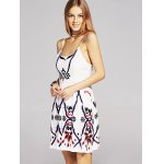 Ethnic Style Waisted Embroidery Cami Dress For Women deal